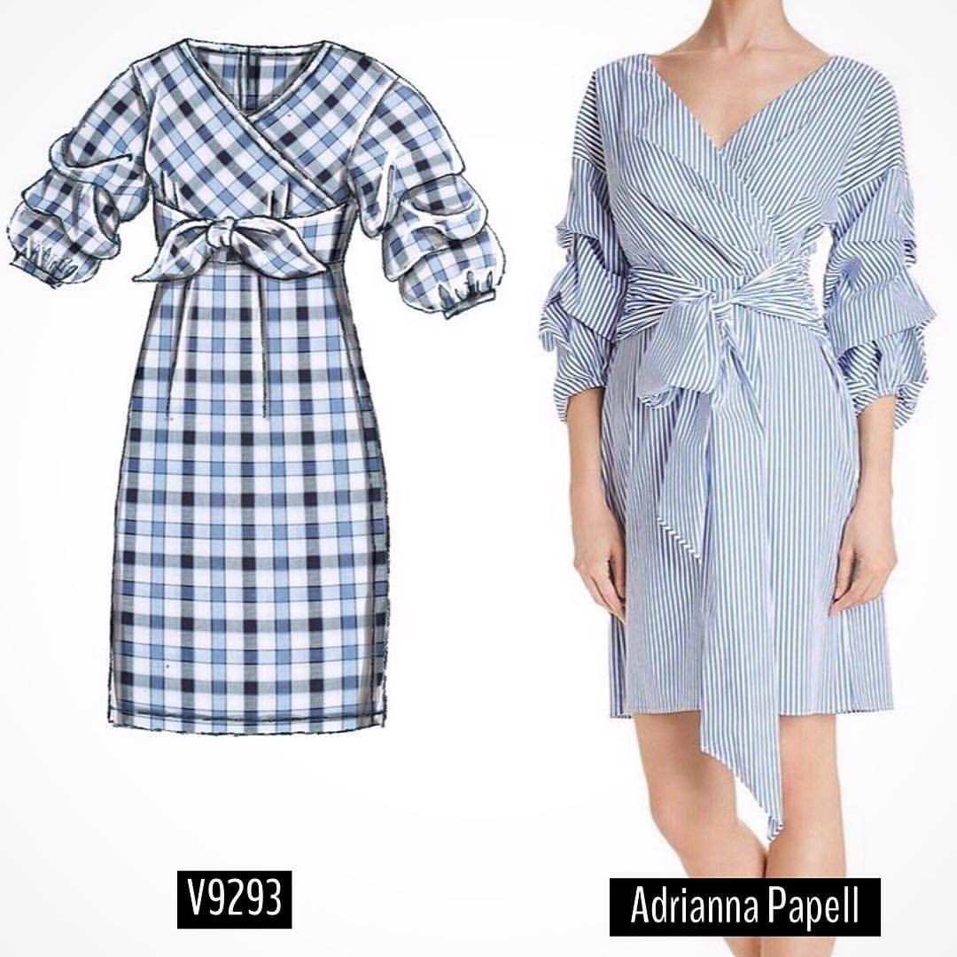 Sew The Look Tm Vogue Patterns V9293 Dress Sewinginspiration Dresspattern Sewingpattern Wrap Dress Faux Wrap Dress Fashion [ 1080 x 1080 Pixel ]