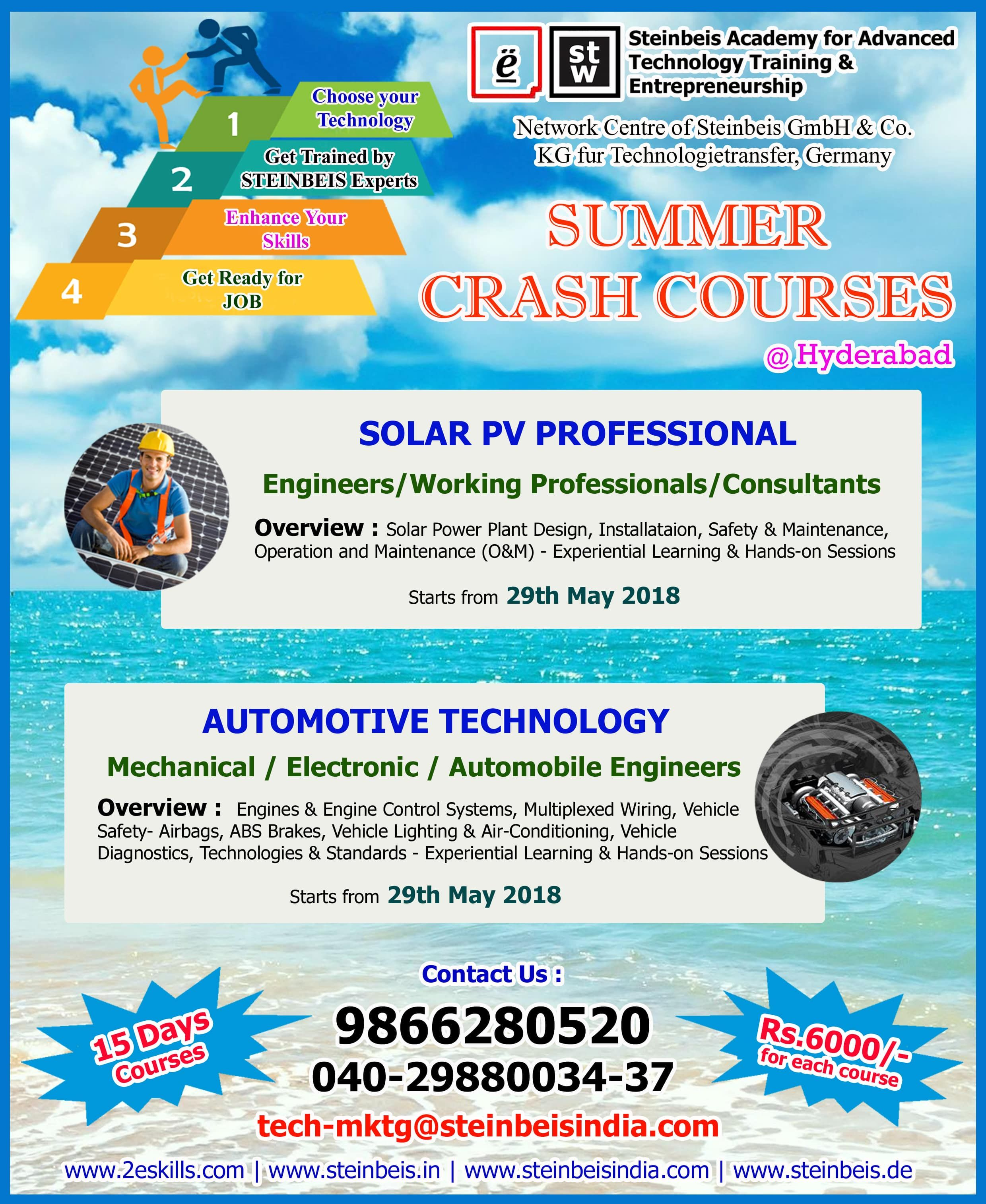 Still Planning On What To Do This Summer Vacation Make Your Summer Vacation Effective Join Our Su Crash Course Working Professionals Professional Engineer