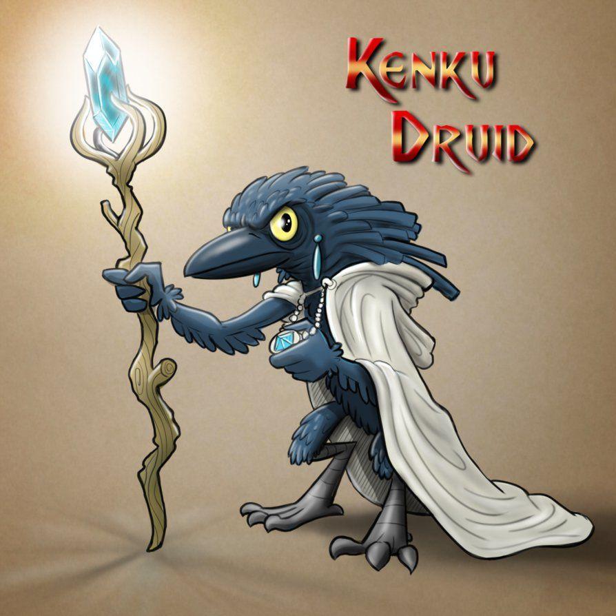 DAY 2:Kenku Druid Colored by cartoonstudy deviantart com on