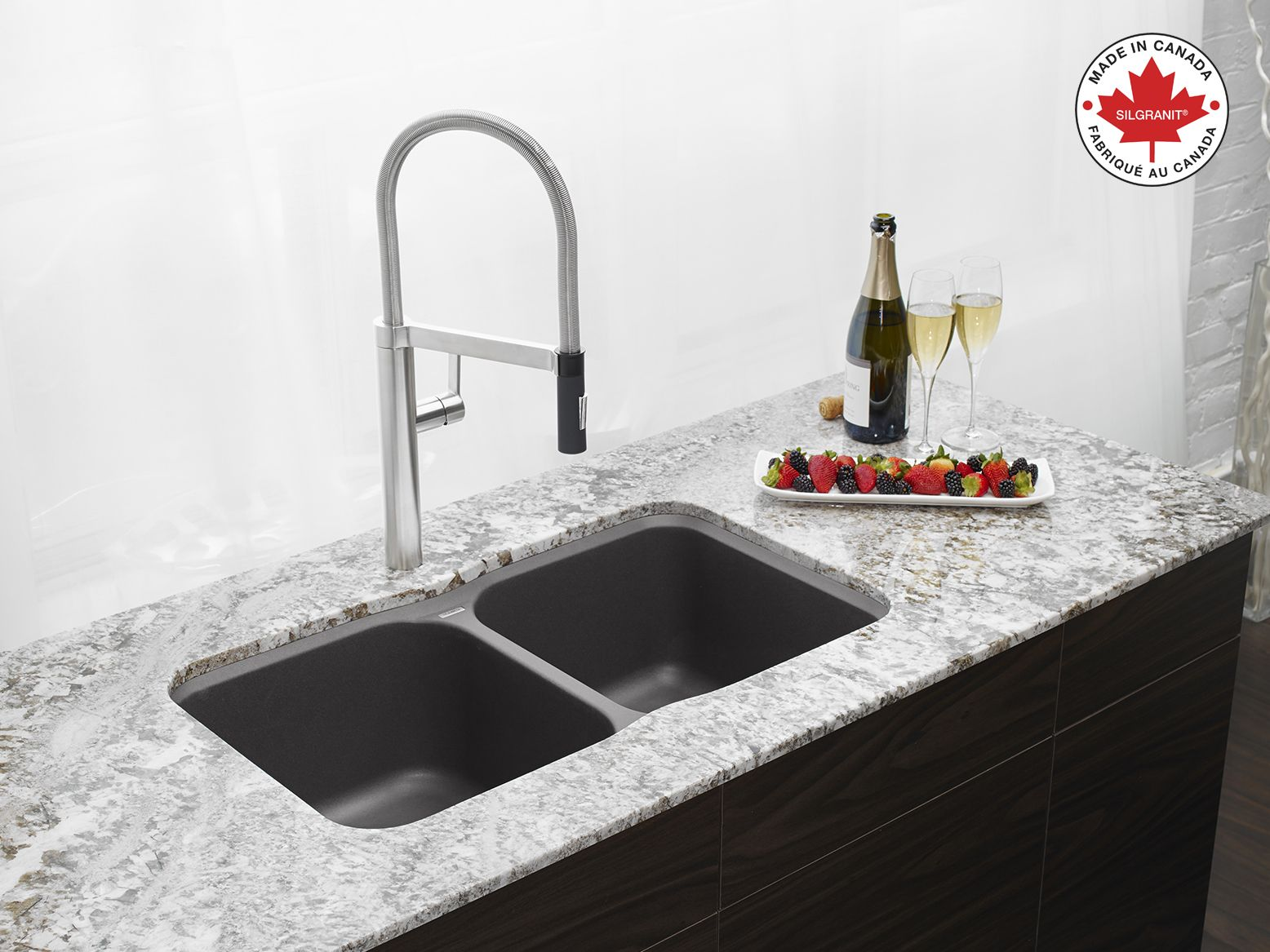 Have a toast by this blanco vision u silgranit sink in
