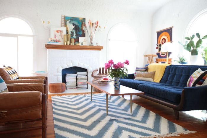 Tips To Choosing The Right Rug Size Via Emily Henderson.