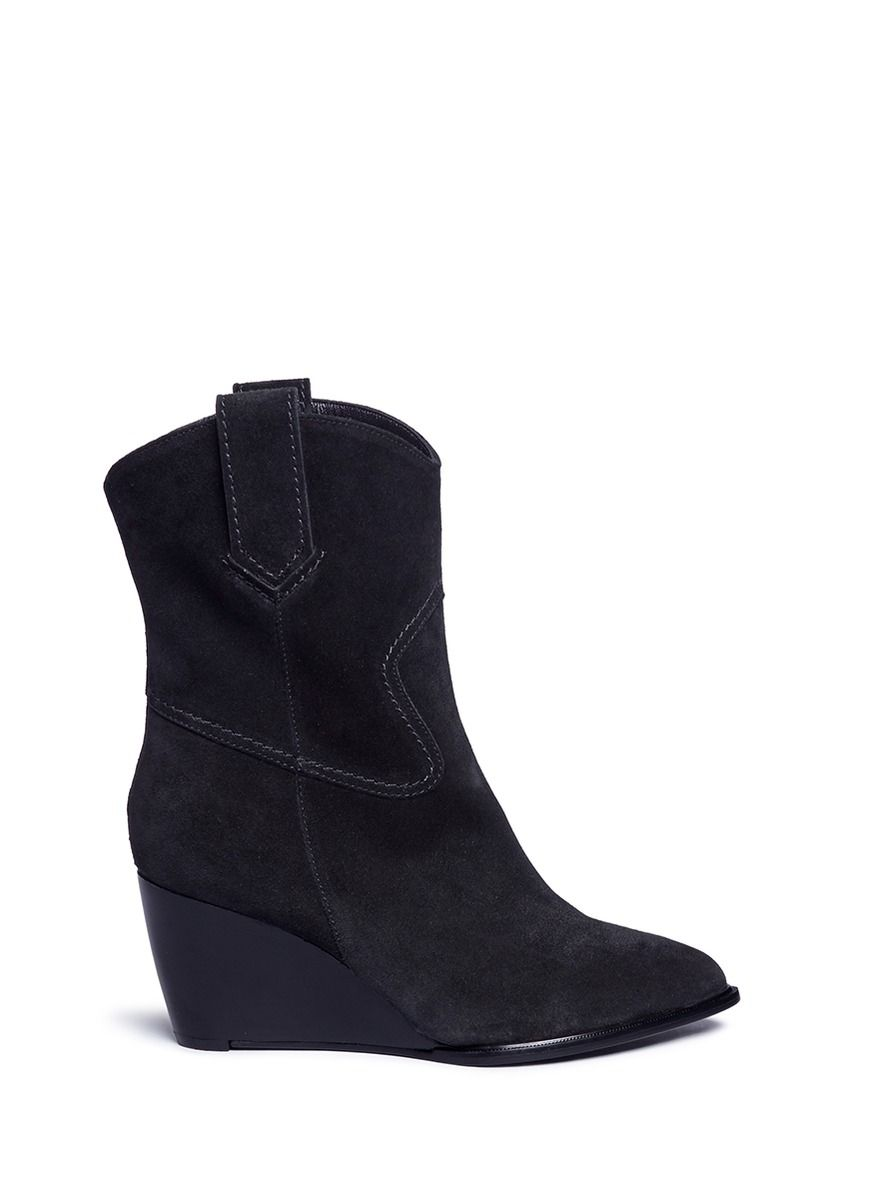 discount nicekicks how much online Robert Clergerie Suede Wedge Booties pictures cheap online low price cheap online gJZ2cQpev