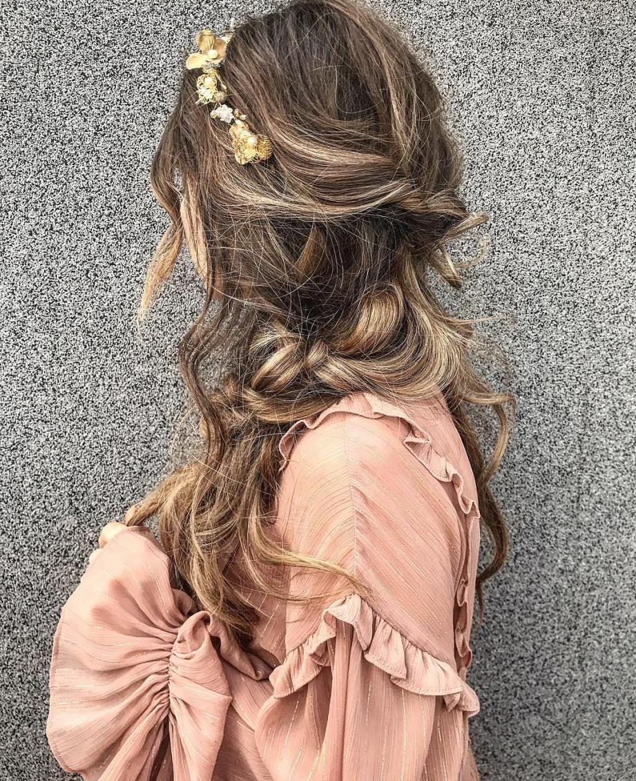 Pretty hairstyle for long hair #hairstyle #bohohair #longhair