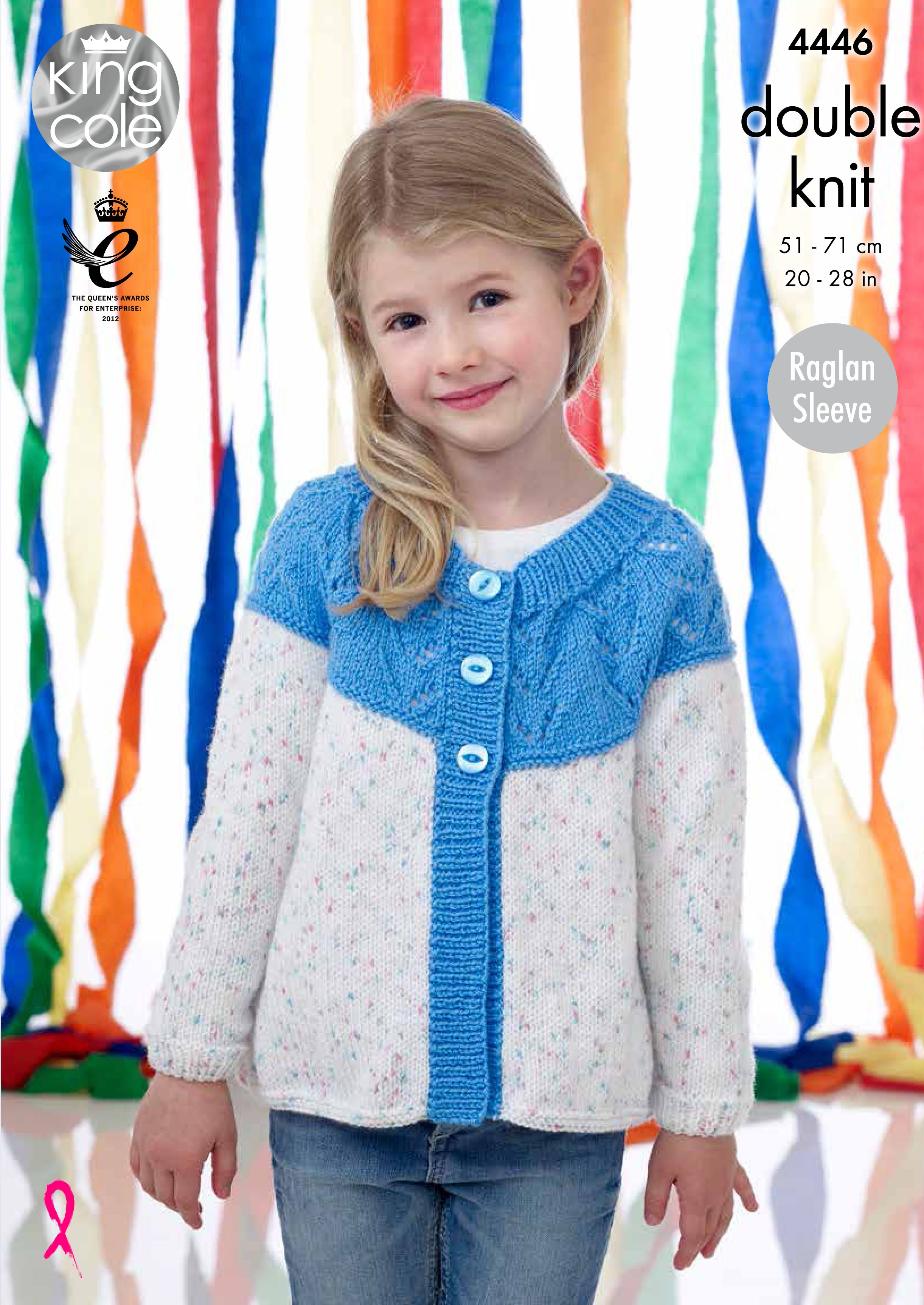 d28def1d4 Childrens Cardigan with Yoke - King Cole