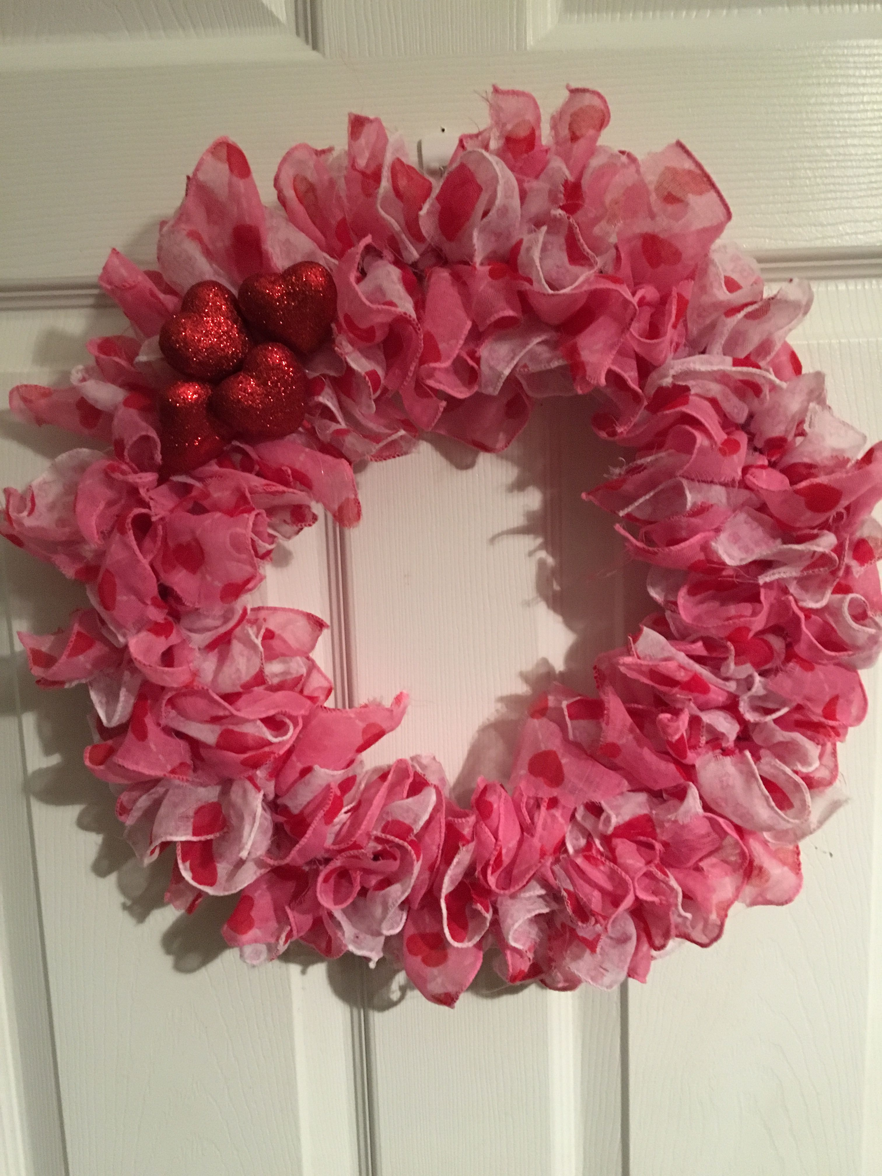 Valentine S Day Wreath Out Of Dollar Tree Scarfs Easy Things I