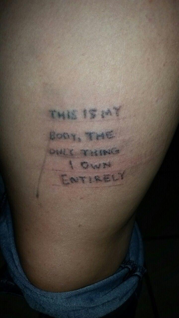 bac7800ef @tattoocrazy123 Stick Poke Tattoo, Stick N Poke, Body Art Tattoos, Cool  Tattoos