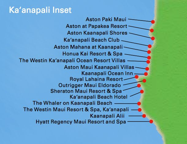 Kaanapali Beach Resort Map