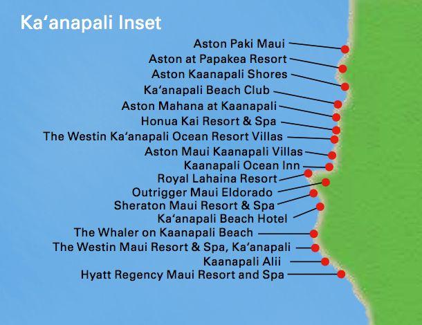 Kaanapali Beach Resort Map