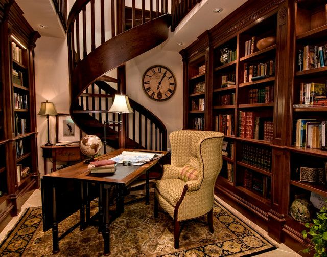 Traditional Library   Traditional   Home Office   San Francisco   Viscusi  Elson Interior Design   Gina Viscusi Elson