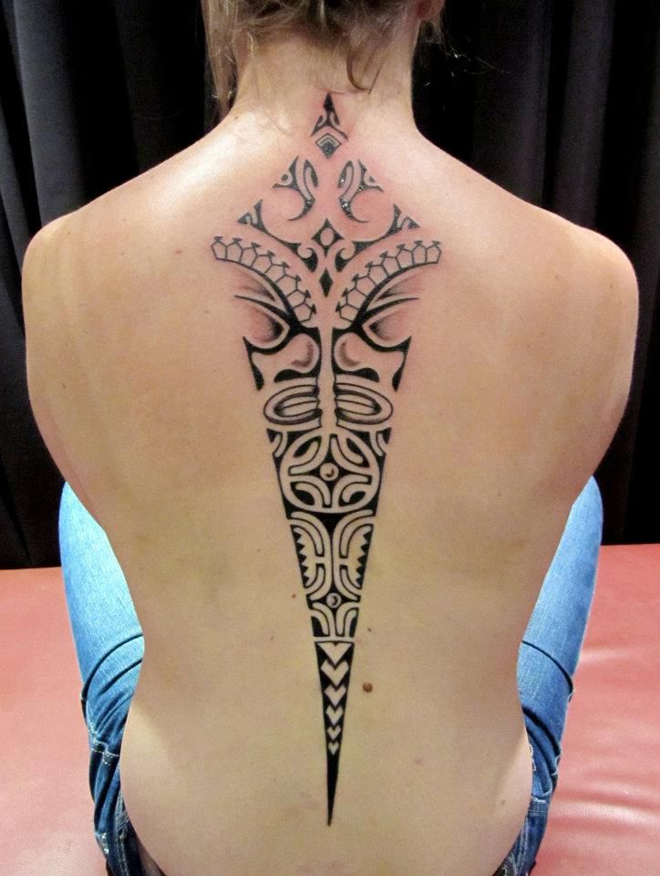 Maori Tattoo For Women: 25 Cool Spine Tattoos For Men And Women