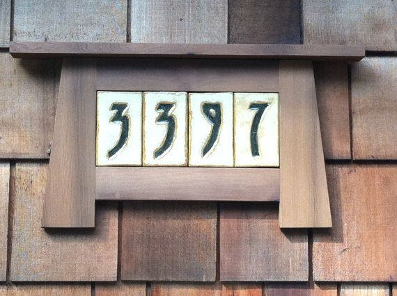 Custom House Numbers In A Craftsman Frame For 4 Numbers On Etsy 115 00 Craftsman House Numbers Custom House Numbers Mission Style Decorating