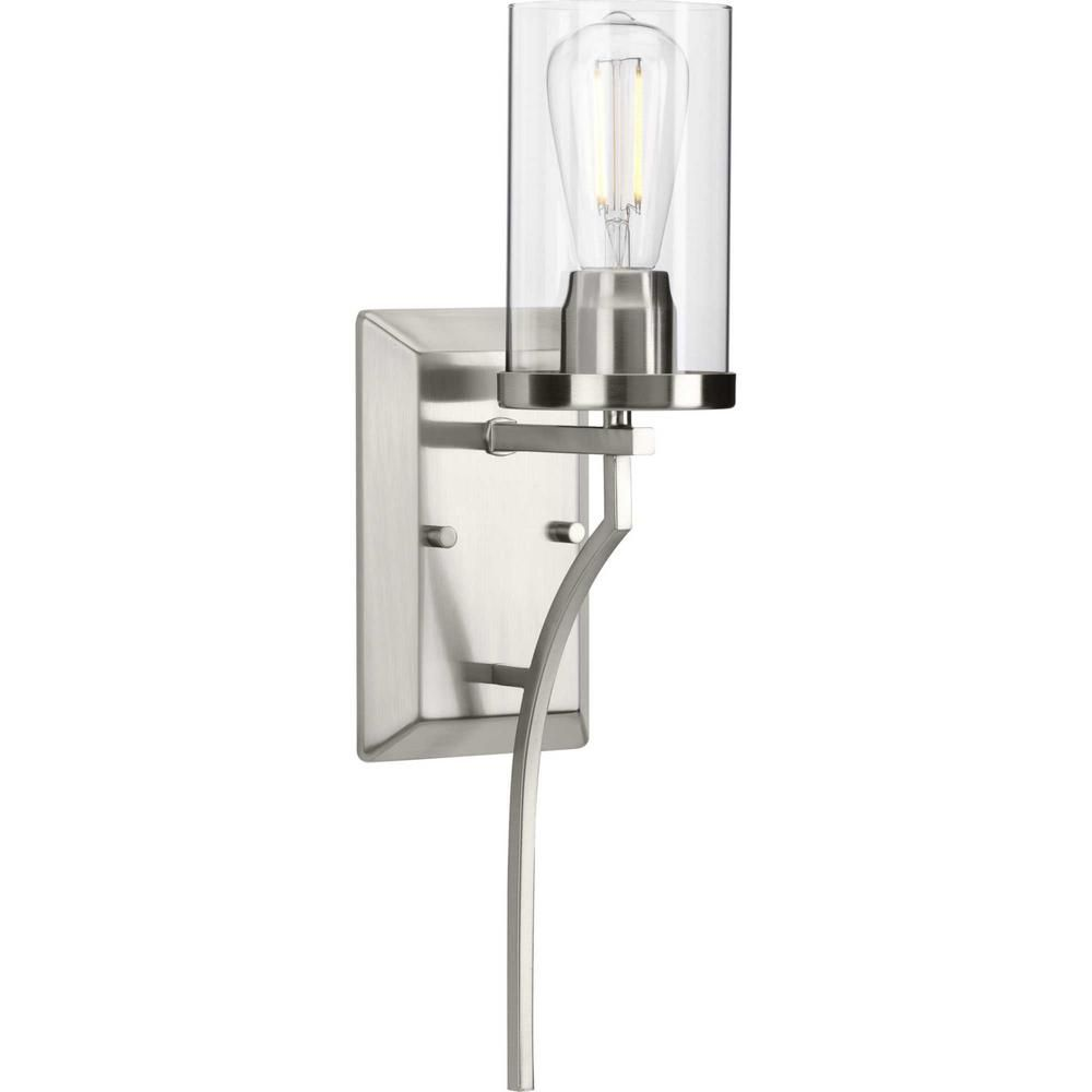Photo of Progress Lighting Lassiter 1-light wall bracket made of brushed nickel