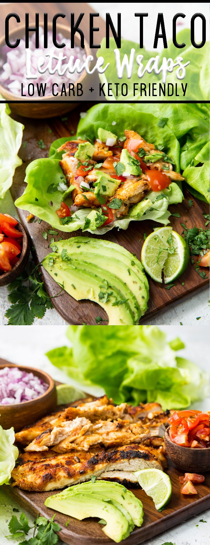 Chicken taco lettuce wraps images