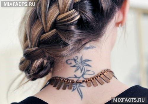 Татуировки на шее для мужчин фото на аву