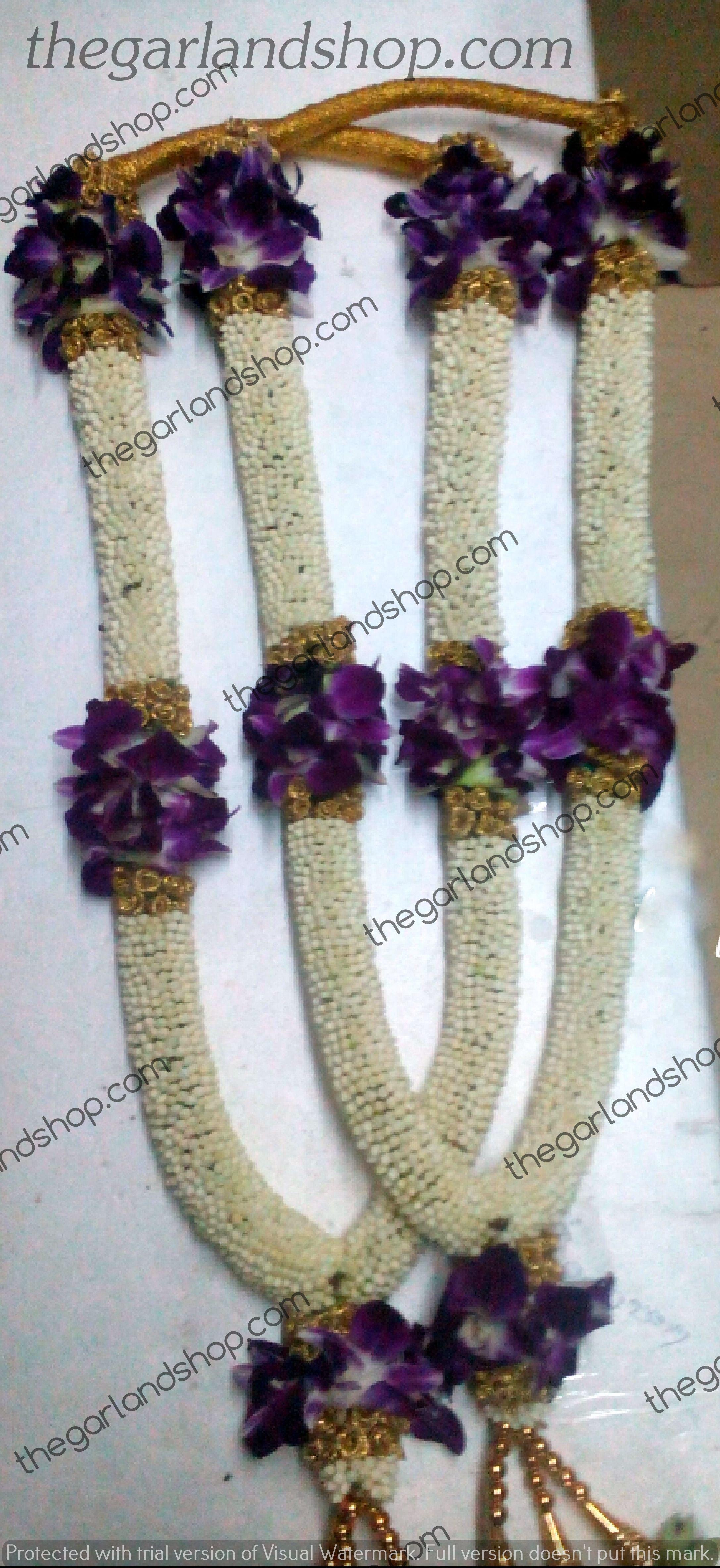 Wedding Garland Crape Jasmine Orchid Flowers Flower Garland Wedding Garland Wedding Indian Wedding Garland