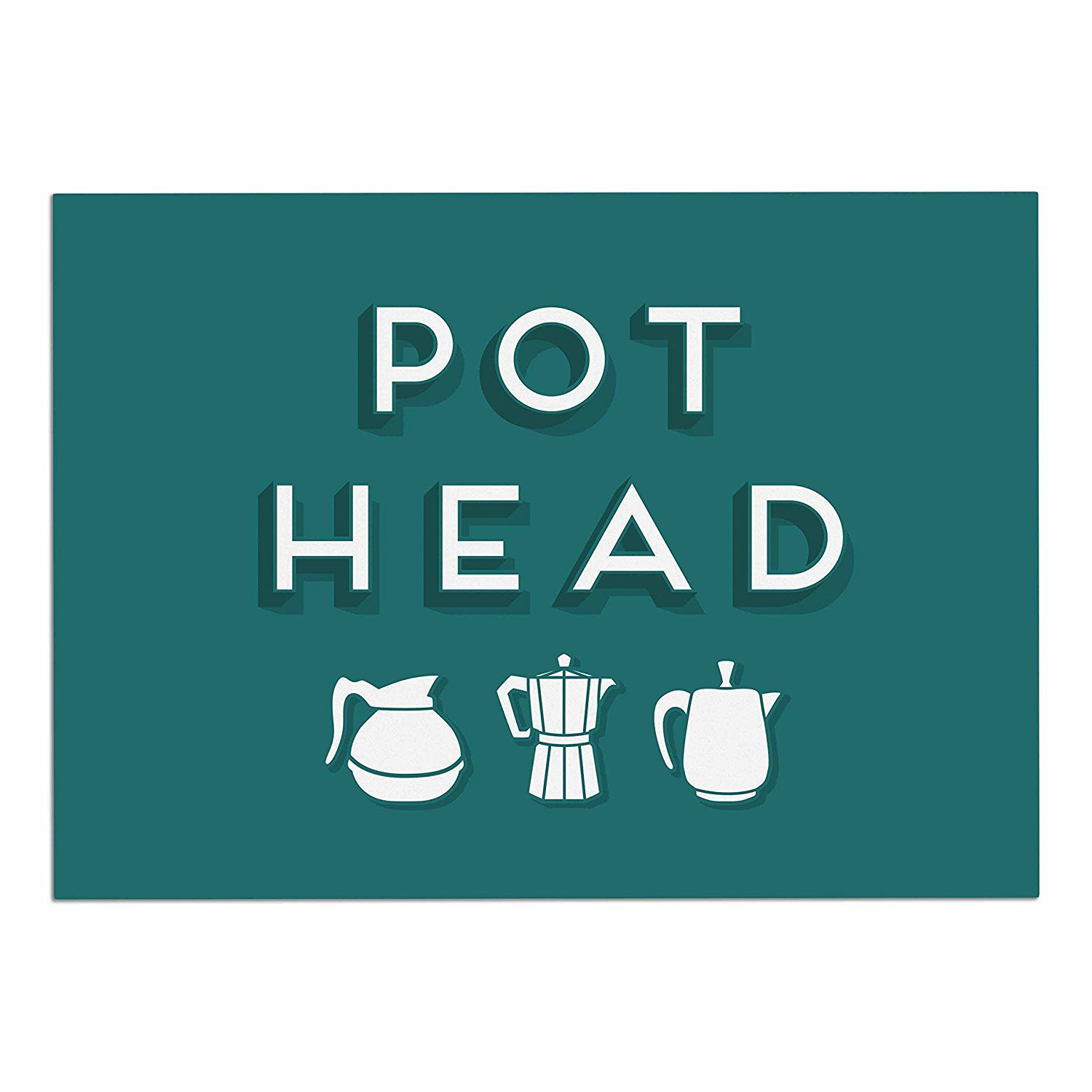 KESS InHouse Busy Bree 'Pot Head' Teal Digital Dog Place Mat, 13' x 18' ** Review more details here : Dog food container