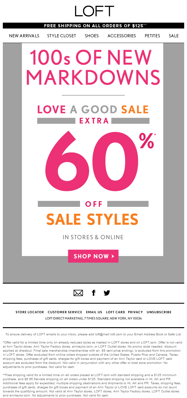 3fa36d1c2a5 LOFT coupon   LOFT promo code from The Coupons App. Extra off sale items at  LOFT