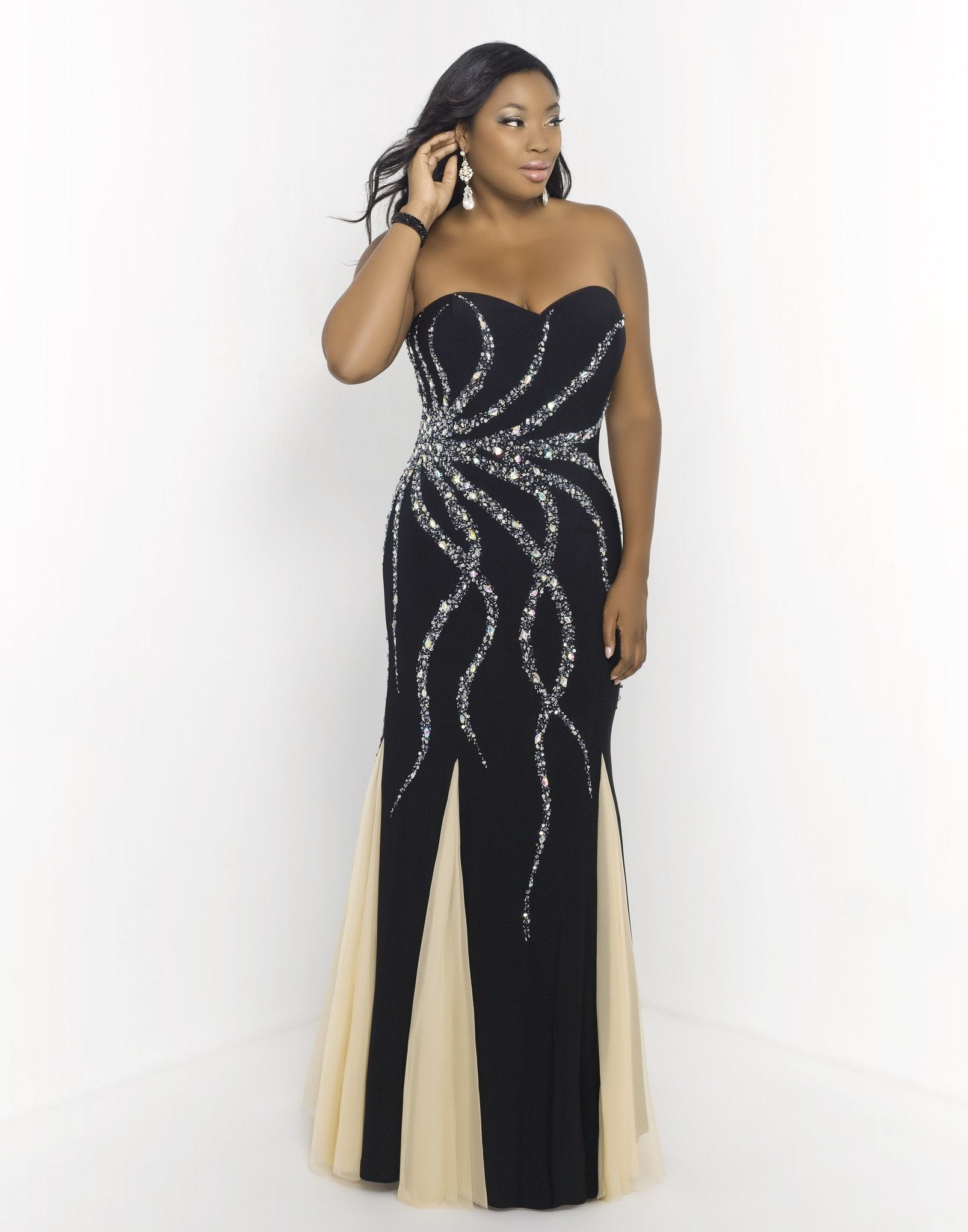 Blush too (plus) 9973w black/nude | Prom stores and Products
