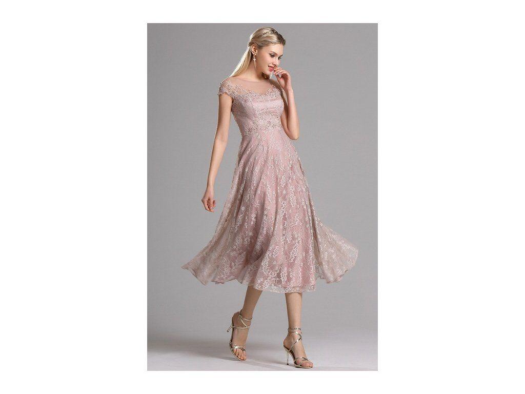 989cebd2acc7 Krátké plesové retro šaty krajkové jemné celokrajkové party šaty přinechané  minirukávky všitá podprsenka lodičkový výstřih zip