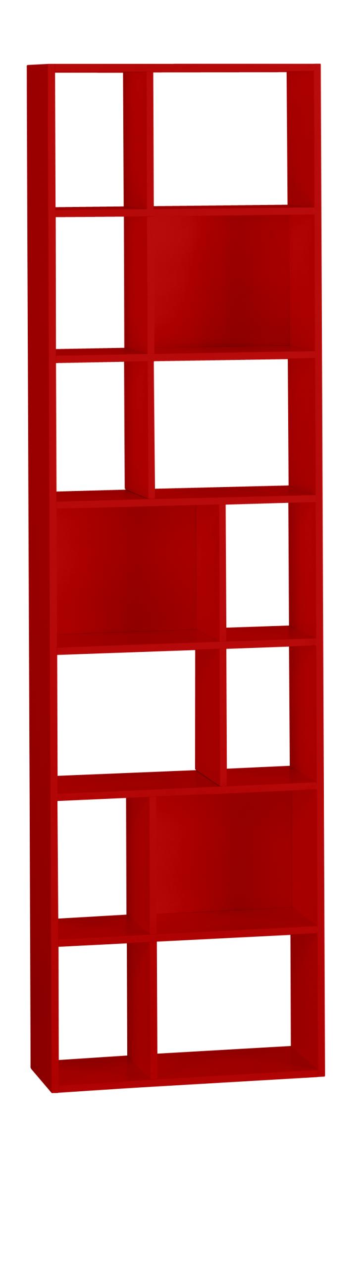 cleo tag res et biblioth ques rouge bois m tal rouge et. Black Bedroom Furniture Sets. Home Design Ideas