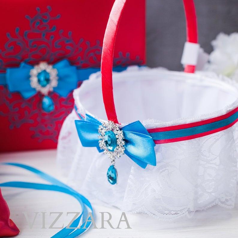 Flower girl baskets Coral wedding Unique flower girl baskets Turquoise and coral wedding Coral flower girl basket Coral color wedding Coral