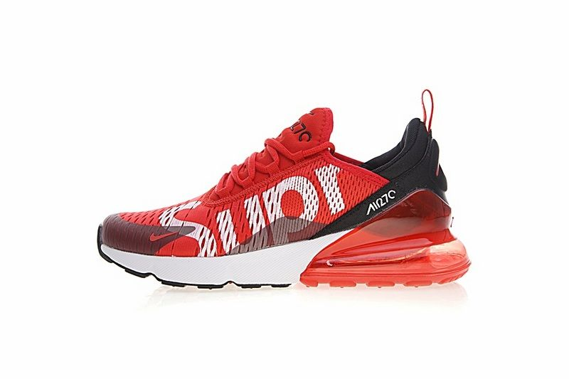 the best attitude 63e61 7aebb Genuine 2018 Supreme x Nike Air Max 270 Latest Styles 2018 Running Shoes  Sup Red White Black AH8050-610