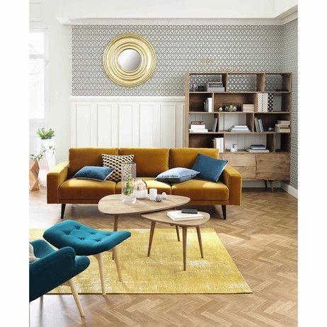 fauteuil style scandinave bleu p trole sala de estar pinterest wohnzimmer parkett und. Black Bedroom Furniture Sets. Home Design Ideas