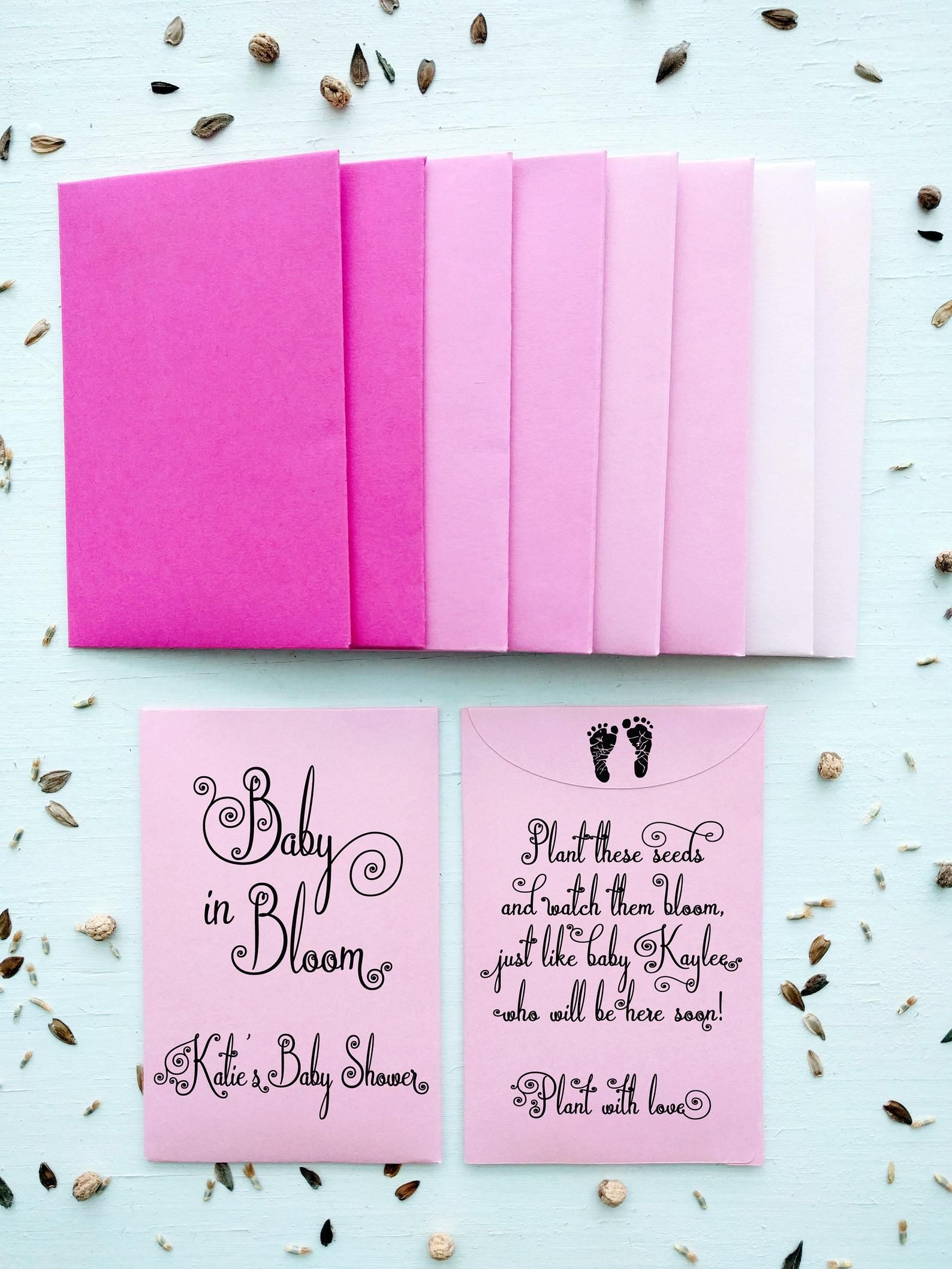 Seed Packet Favor. Baby Shower Favor. Rustic Baby Shower.