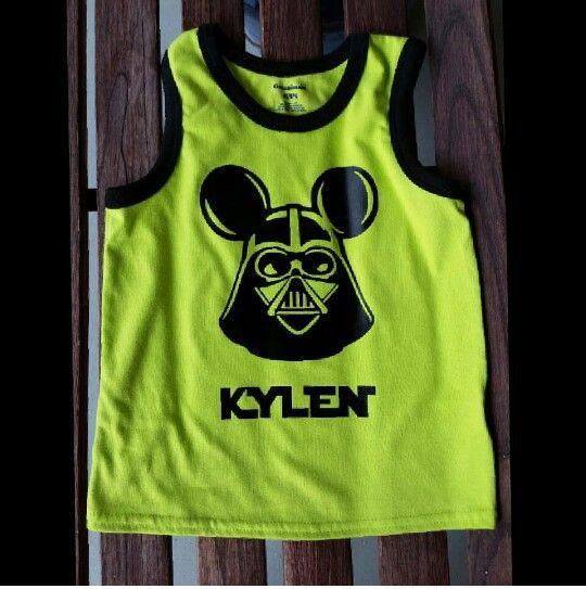 Custom order Star Wars Disney shirt with name.
