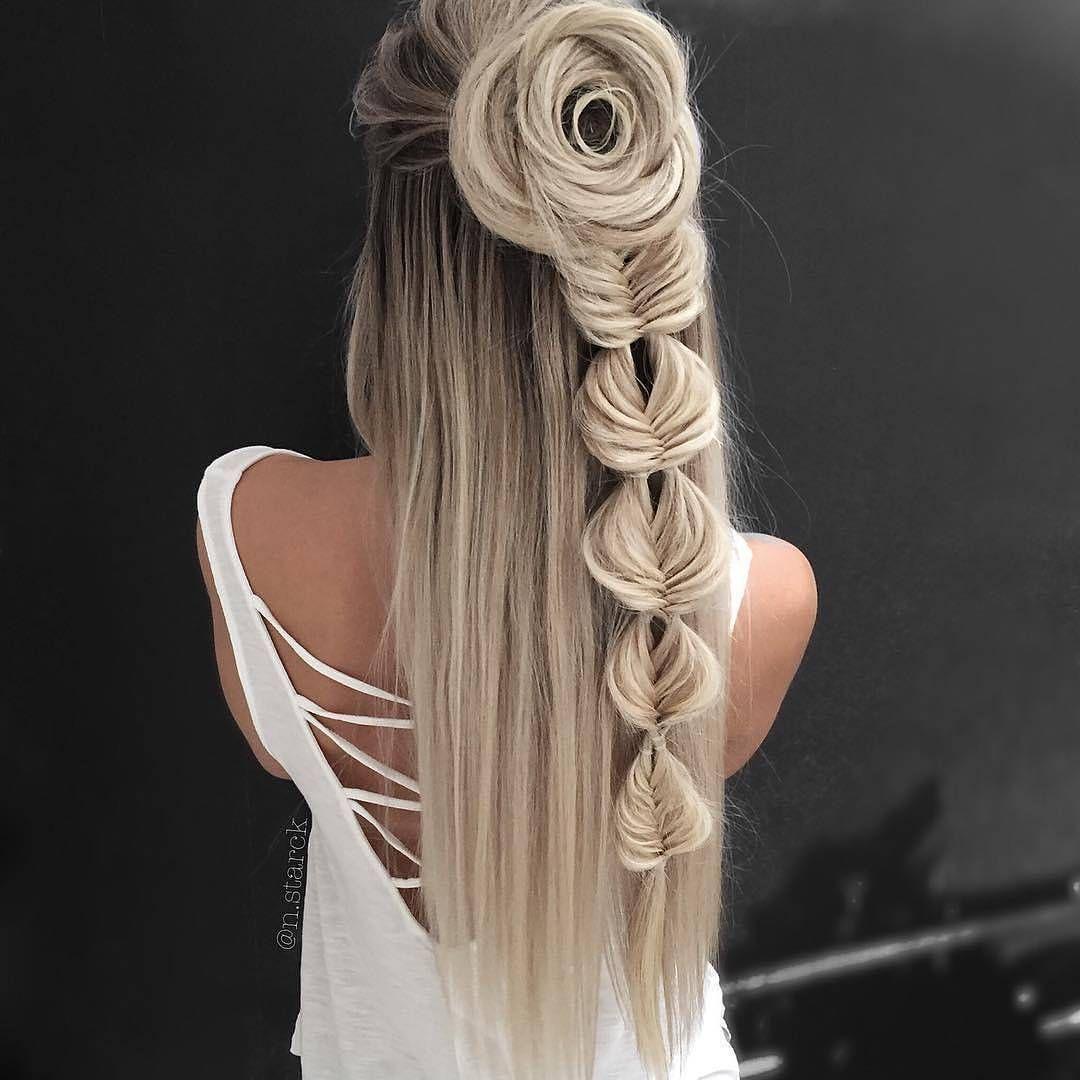 Nice hairdo haircolor cute hair fashion big blonde hair