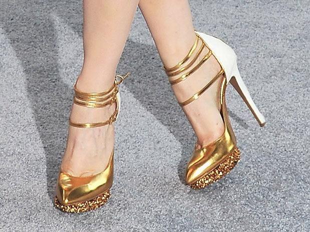 Sapato Calcanhar Sapatos Saltos Lindos