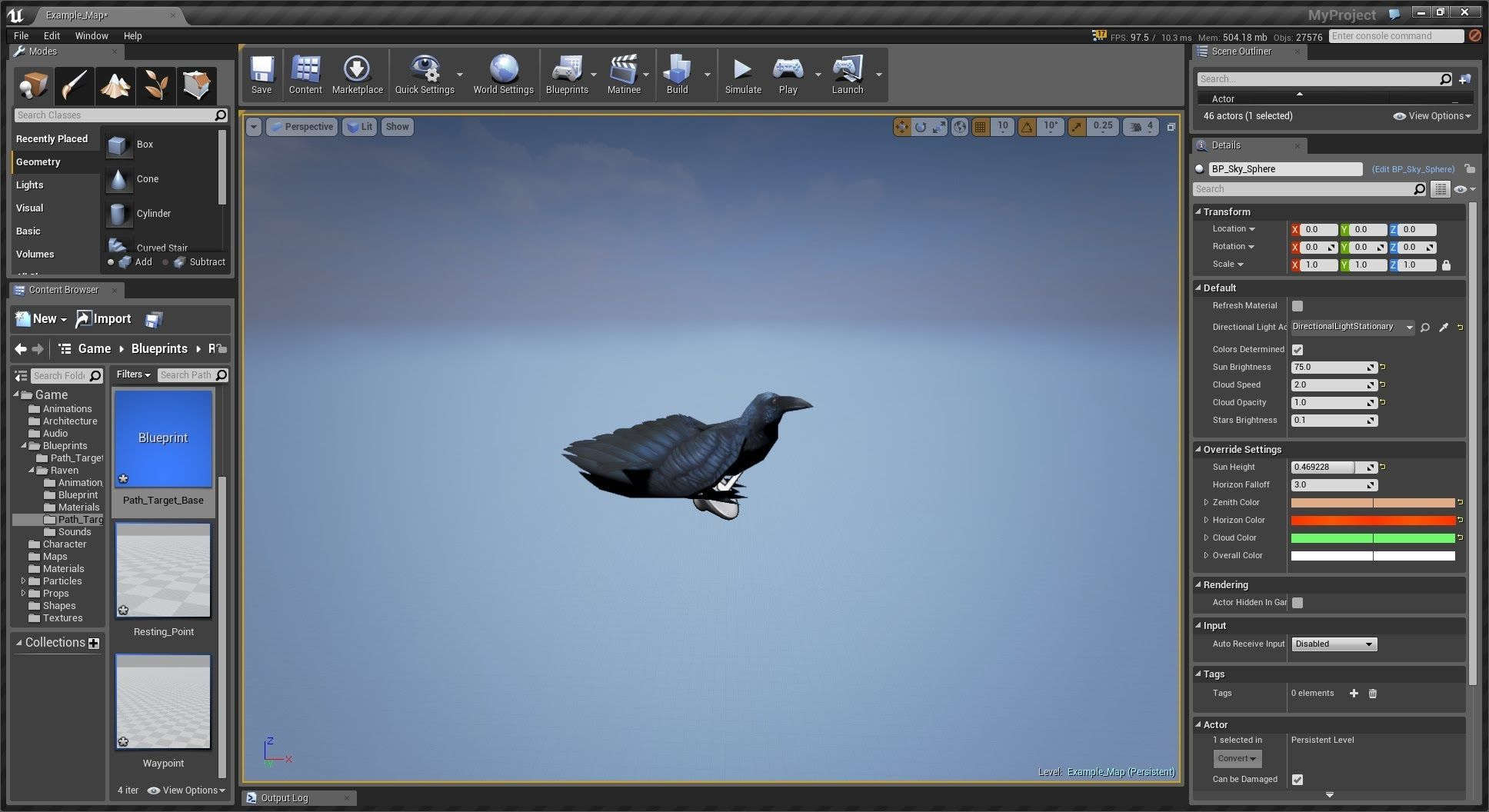 Bird blueprint and waypoint system unreal 4 engine fftt art bird blueprint and waypoint system unreal 4 engine malvernweather Image collections
