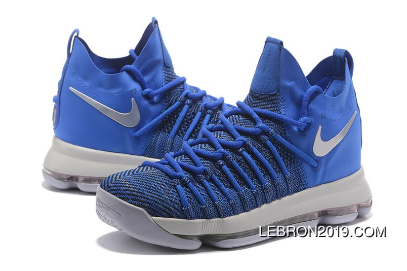 wholesale dealer 06d01 d68a6 Nike Zoom Kd 9 Elite Game Royal/Silver Basketball Shoes ...