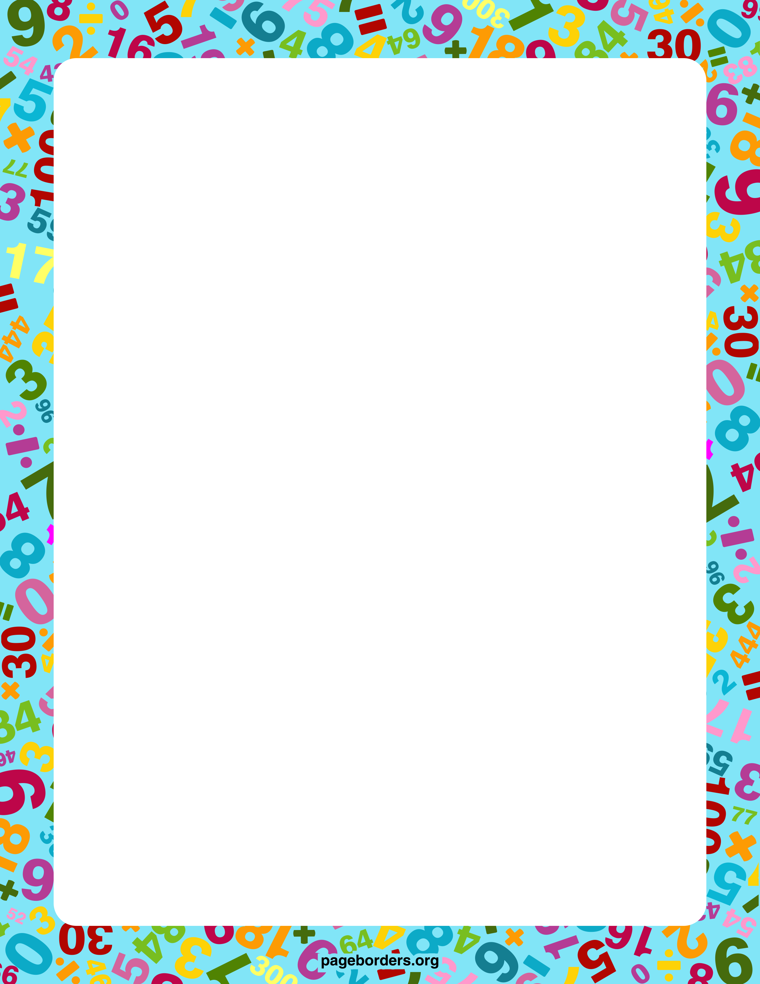 Math Border 2 Math Border Free Cliparts That You Can