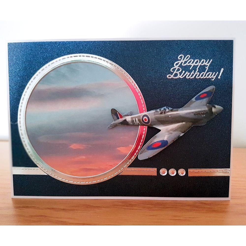 RAF Spitfire Aeroplane Birthday Card Gift