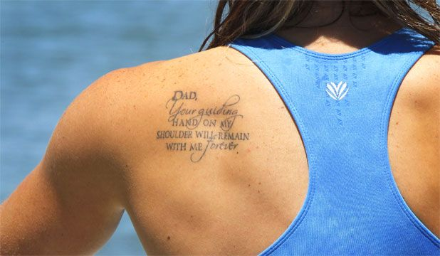 d06824850 dad your guiding hand on my shoulder - Google Search | Tattoo Ideas ...