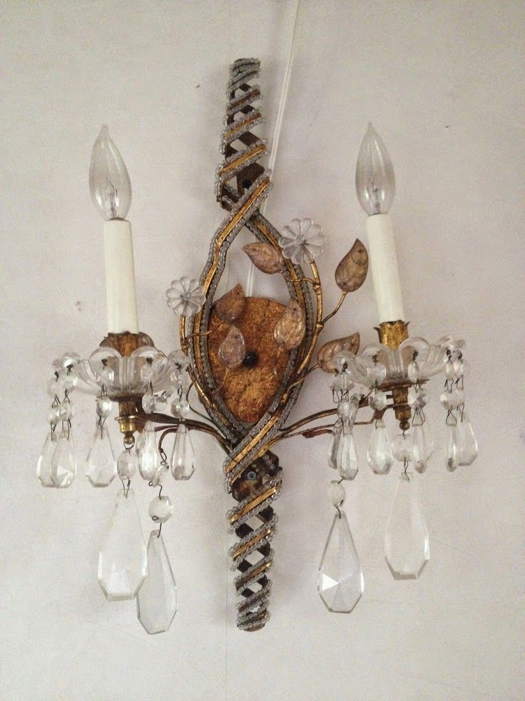 A Blog About Interior Design With Focus On French Style And Other Old World Aesthetics Crystal Sconce Sconces Romantic Lighting