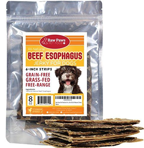 Raw Paws Pet Premium 6 Inch Beef Jerky Dog Treats Made In The Usa Esophagus For Dogs All Natural Chews Raw Dog Food Recipes Jerky Treats Dog Food Recipes