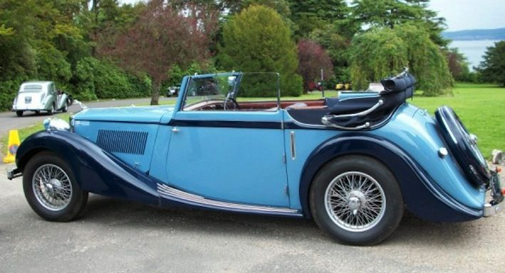 Rare 1936/39 MG-SA 2-Door Drop-Head coupe (Salmons-Tickford) 2322cc engine only 93 remain