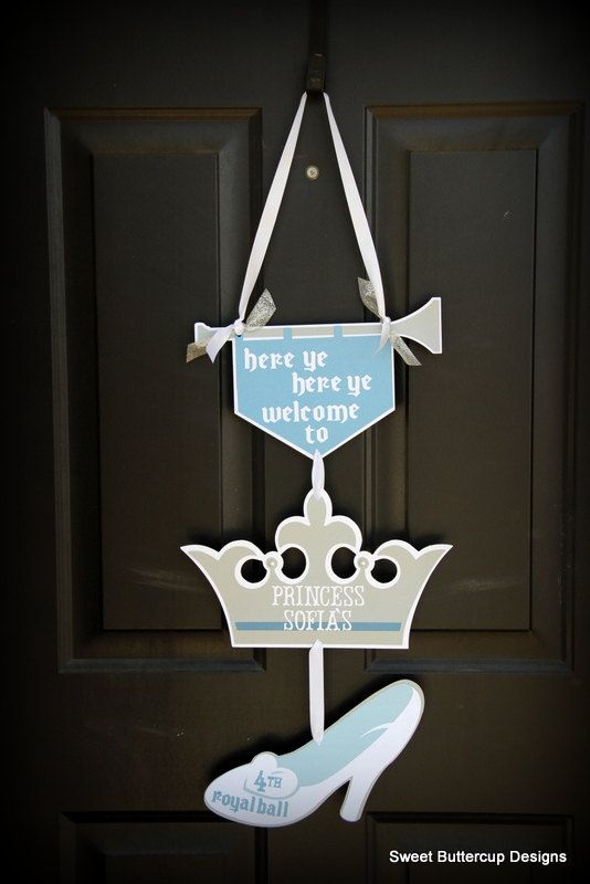 Princess Inspired Party Door Sign by SBCDesign on Etsy, $25.00