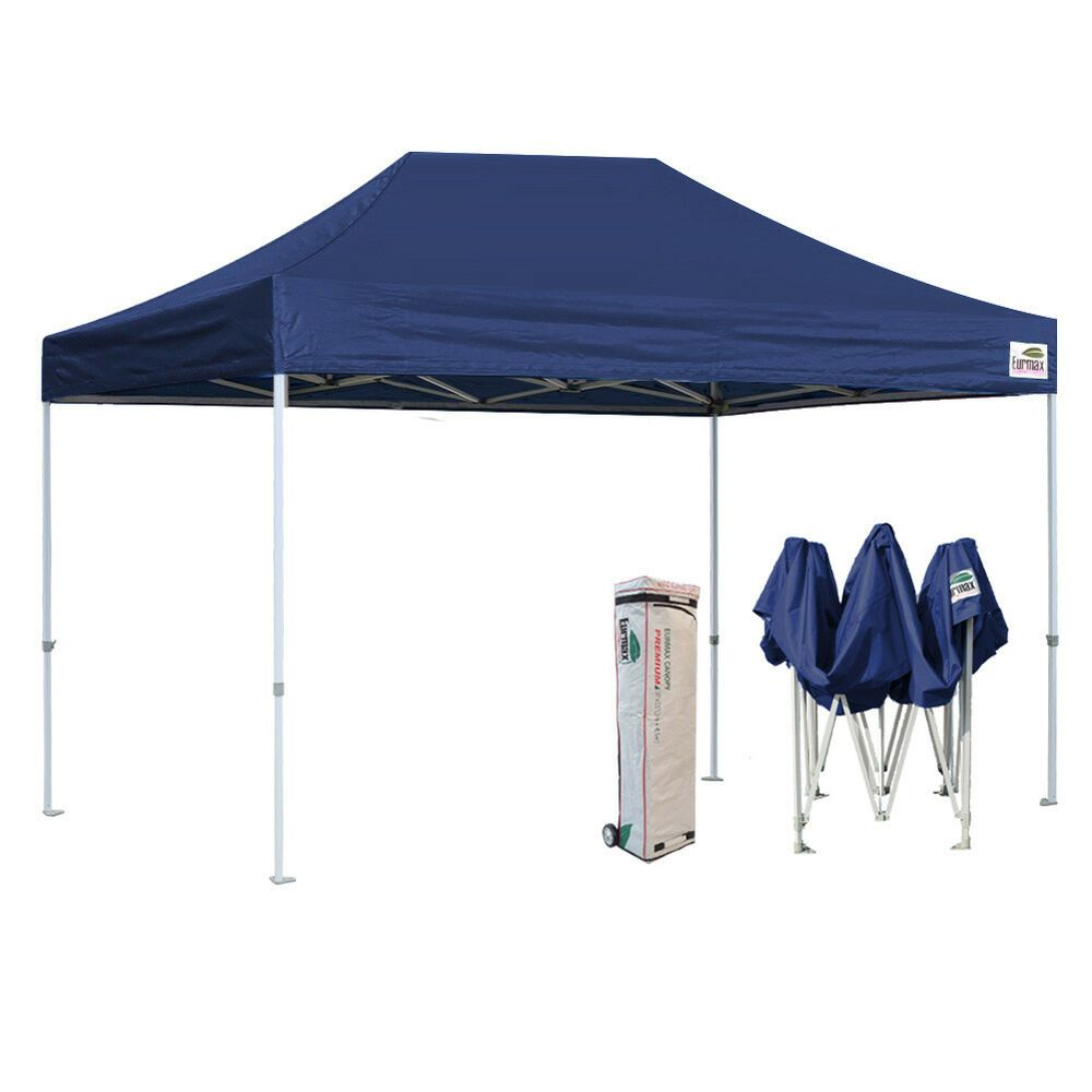 Advertisement Ebay Ez Pop Up Canopy Navy Blue 10x15 Heavy Duty Patio Gazebo Instant Shade Tent Shade Tent Patio Tents Party Tent