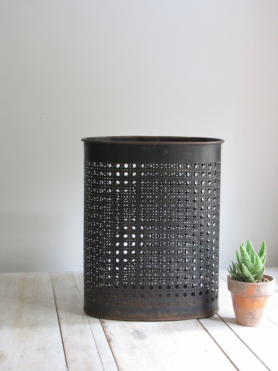 Vintage Mid Century Industrial Trash Can Furniture Pinterest