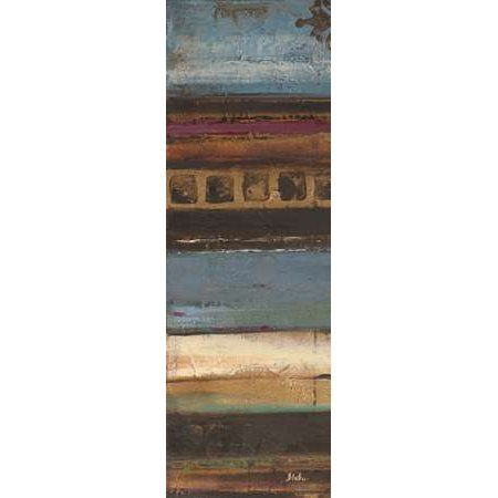 Blue Eclectic II Canvas Art - Patricia Pinto (12 x 36)