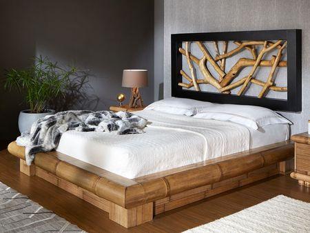 Lit Flora 4 en bambou haut de gamme, meuble pour la