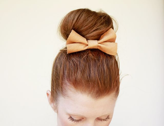 Five DIY Hair Tutorials For Party And Wedding Hairstyles High - Hairstyle bun with bow