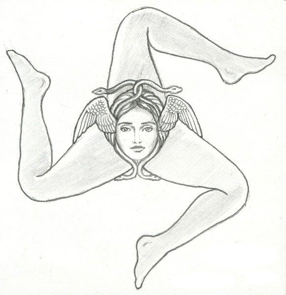 Sicilian Symbol Three Legs Trinacria Symbol Symbol Of Sicily
