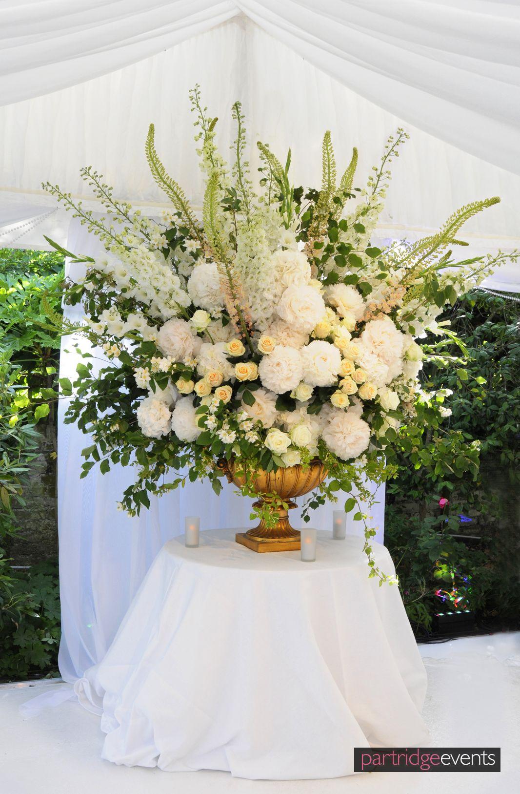 White Floral Display Inspiration Wedding Pinterest Flower