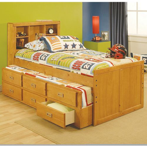 Oak Furniture West Twin Captain S Bed W Mattresses And