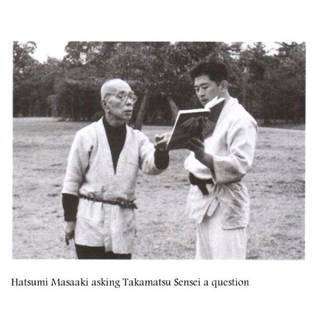 Soke Hatsumi asking Takamatsu Sensei a question, he looks like ...