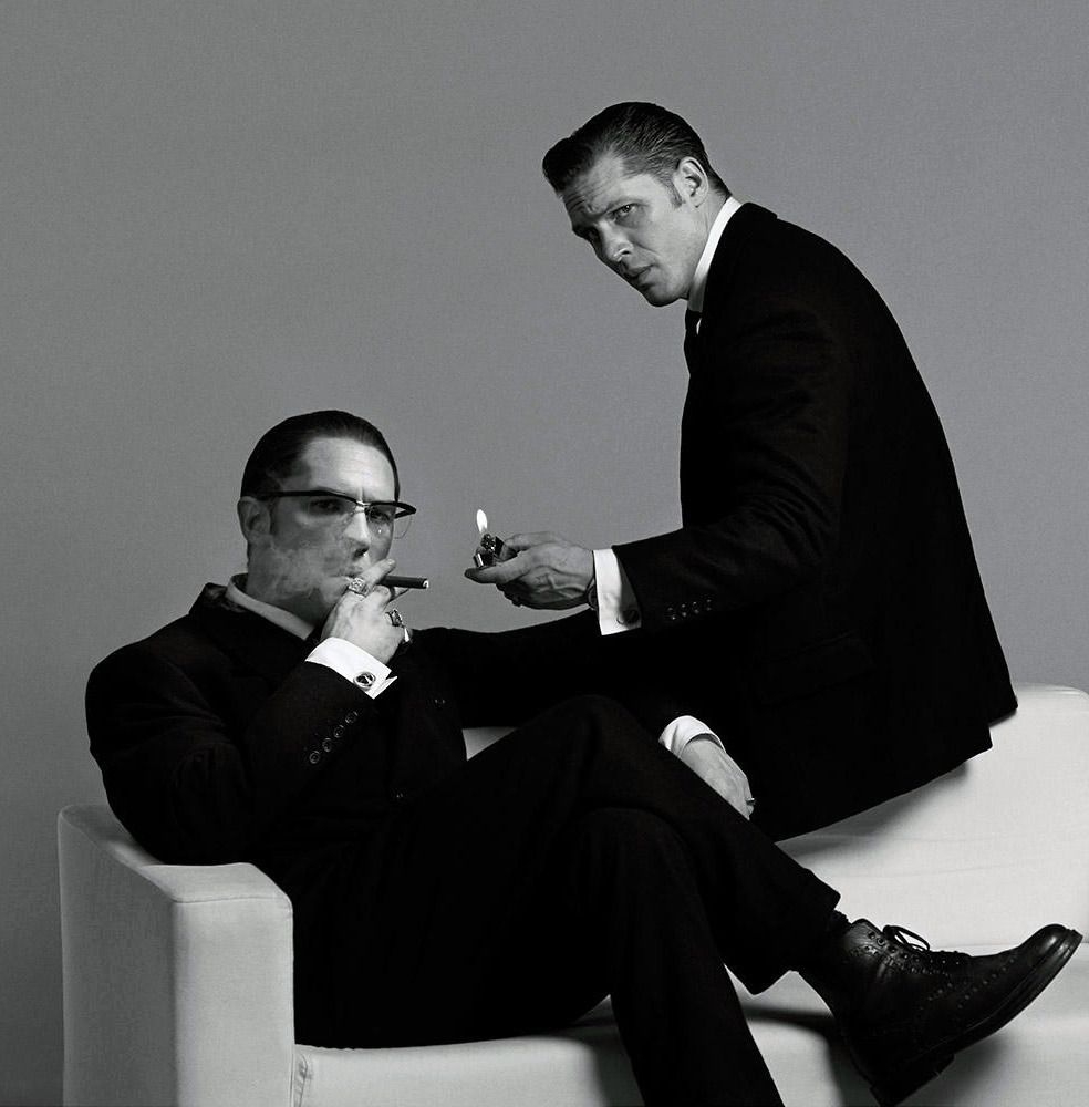 117d7ad22228 tom hardy variations — Tom Hardy as Ronnie and Reggie Kray | photos by.